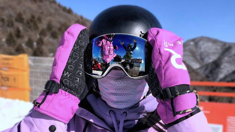 Visuele weergave van snowboard bescherming