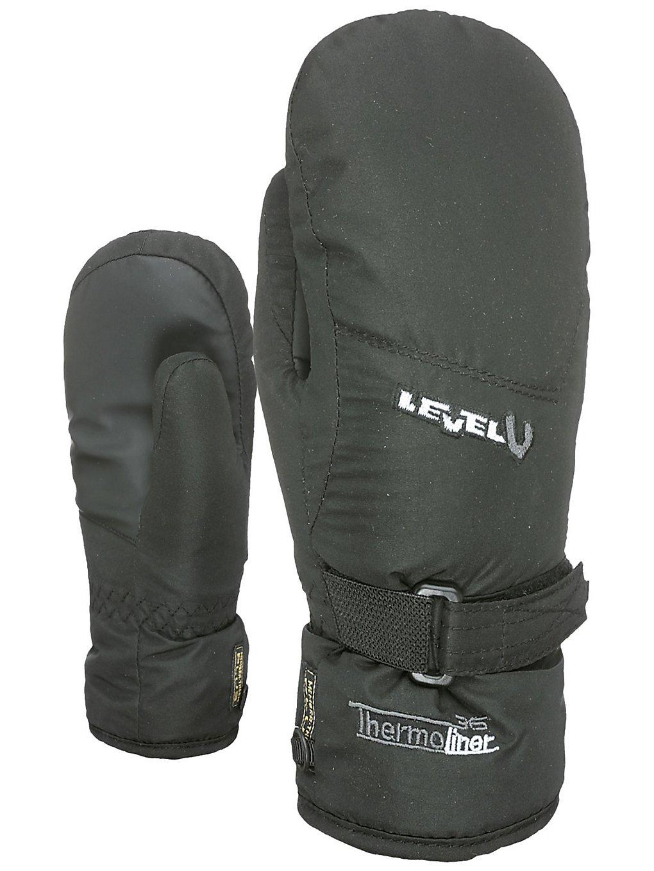 Level Junior II Mittens zwart