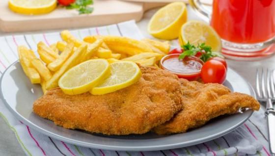 Schnitzel met friet